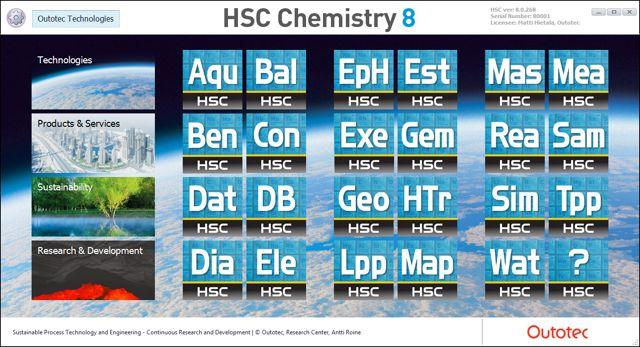 Hsc chemistry software for process simulation reactions 4 reaction equations 5 heat and material balances 6 heat loss calculator 7 equilibrium calculations 8 exergy balance 9 eh ph diagrams pourbaix ccuart Gallery